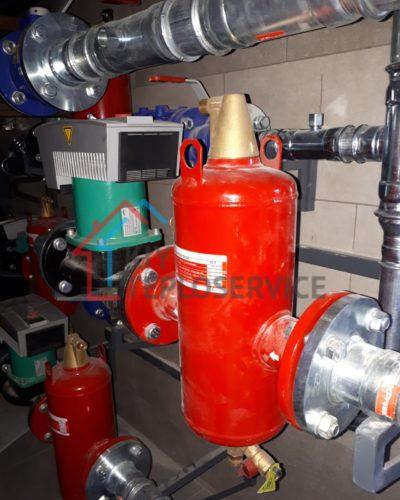 Сепараторы, частотные насосы, фланцевые соединения, стальная обвязка котельной