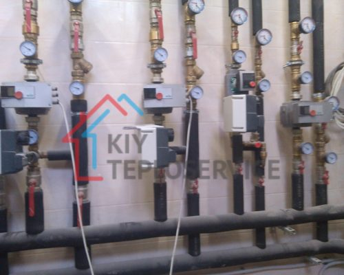 Частотные насосы Wilo, шаровые краны, манометры, изоляция K-flex
