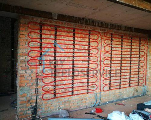 теплые стены на монтажную шину