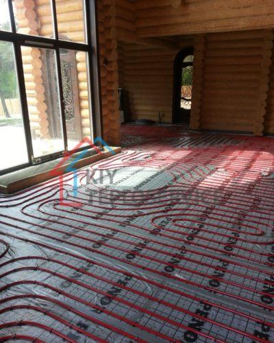 Учет тепловых потерь в здании с окнами в пол.